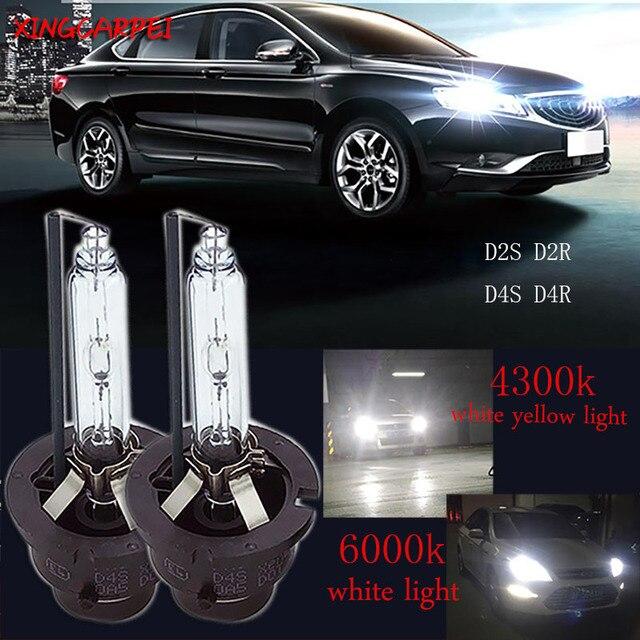 2 piunids/lote D2S lámparas de xenón D2R D4S D4R coche HID reemplazo de bombillas 4300K 6000K faro brillante de xenón lámpara de luz blanca