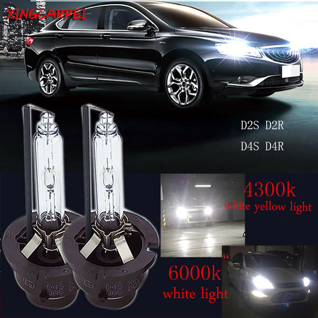 2pcs/lot D2S Xenon lamps D2R D4S D4R Car HID Bulbs Replacement 4300K 6000K HIgh Bright HeadLight Xenon Lamp White Light