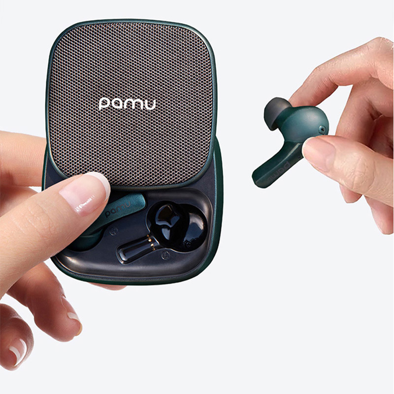 PaMu Slide True Wireless <font><b>Earphones</b></font> <font><b>Noise</b></font> <font><b>Cancelling</b></font> Bluetooth Headset TWS Earbuds With Charging Box And Dual Mic image