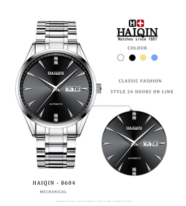 Image 5 - HAIQIN Mens watches automatic mechanical Mens Watches top brand luxury watch men wirst watch business clock 2019 Reloj hombres