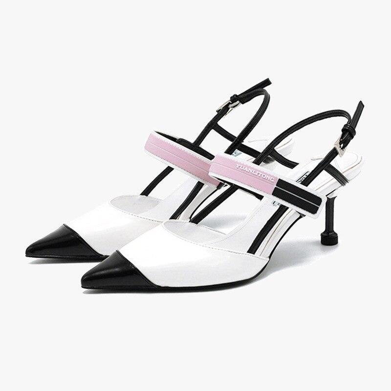 Spring Summer Women Pumps Shallow Hollow High Heels 6-8cm Women Shoes Party Wedding Stiletto
