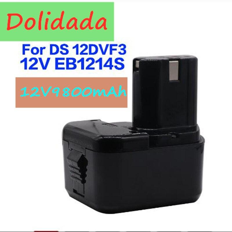 High Quality 8800mAh 12V 4.8Ah Battery For Hitachi EB1214S 12V EB1220BL EB1212S WR12DMR CD4D DH15DV C5D , DS 12DVF3