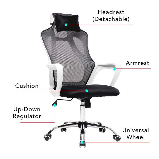 Gaming Office Chairs Ergonomic Mesh Computer Chair High Back Seat Desk Chair Home Office Recliner Gamer Chair Conference Chairs 5