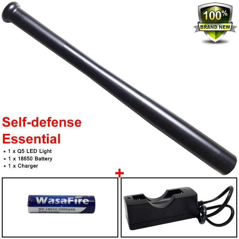 Powerful XPE Q5 Tactical Stick Baseball Led Flashlight 3 Modes Waterproof Baton Torch Self Defense Lantern For Camping Hunting