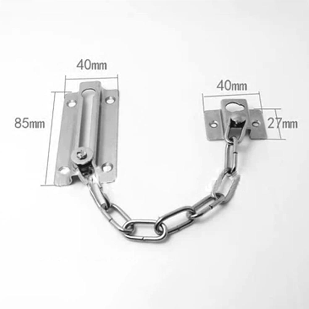 Door Chain Lock Cabinet Locks Safety Security Lock for DIY Home Door Tools with Screws