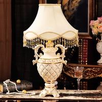 Gold Stripes Ceramic Table Light Fixture Modern Inlay Diamond Porcelain Lamp Lamparas Desk Lustre For Home Living Bedside Room