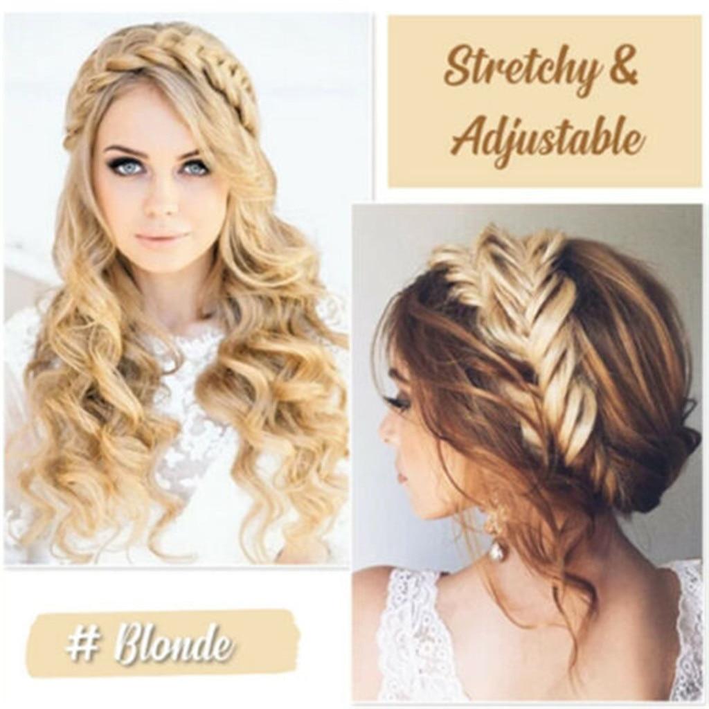 Band Elastic Twist Headband Princess Hair Accessories Women Hair Ring Fashion Wig Braid Hair Band Greek Style Synthetic Wig Hair