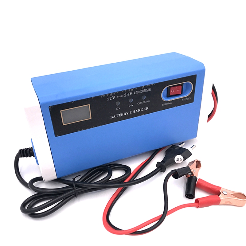 New <font><b>12V</b></font> 24V 10A Car <font><b>Charger</b></font> Motorcycle Truck Charging Smart LCD Display AGM Lead Acid Gel <font><b>Battery</b></font> <font><b>Charger</b></font> <font><b>12V</b></font> For 4AH-<font><b>200AH</b></font> image