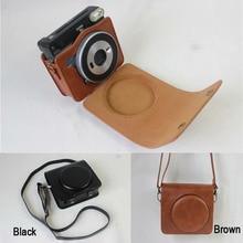 Capa de câmera para fuji instax square sq6 sq20 sq1 liplay mini 11 90 bolsa de couro fujifilm sq 6 sq 20 sq 1