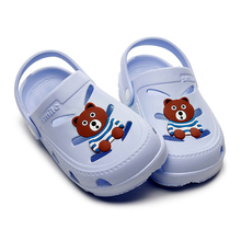 Детская пляжная обувь; детские тапочки для девочек и мальчиков; детские сандалии с милым медведем из ЭВА; коллекция года; летние тапочки с отверстиями для детей; обувь для малышей