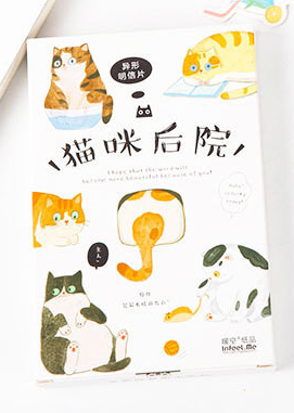 Cat Home Paper Postcard(1pack=30pieces)