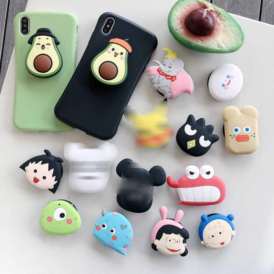 Universale Pieghevole Supporto Della Staffa Per iPhone Samsung Huawei Xiaomi OPPO VIVO Cute Cartoon Pieghevole Anello di Supporto
