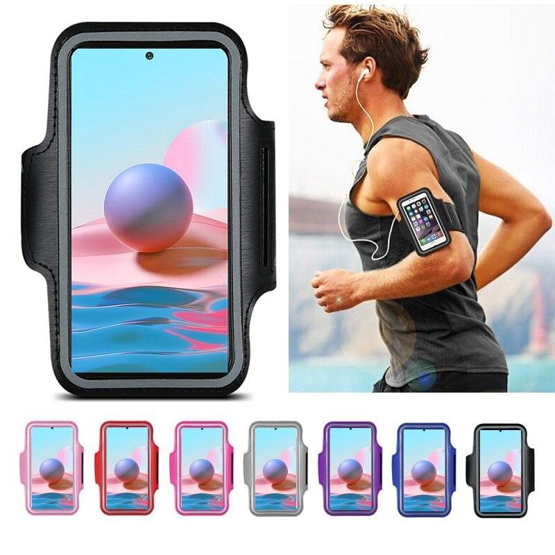 Спорт держатель для телефона на руку, чехол для бега, сумка, чехол на руку для Redmi Note 10 10S 9 9S 9T 8T 8 Pro Xiaomi Poco X3 Pro NFC F3, сумка чехол на руку для бега