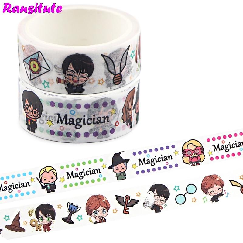 Ransitute 2pcs Cartoon Washi Tape Lace Masking Tape DIY Photo Album Decoration Tape Kawaii Stationery Scrap Paper R741