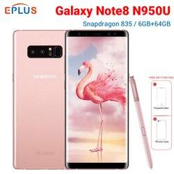 Nouveau Samsung Galaxy Note8 Note 8 N950U 6GB 64GB téléphone Mobile Version Verizon 6.3 Snapdragon 835 NFC 4G téléphone Android