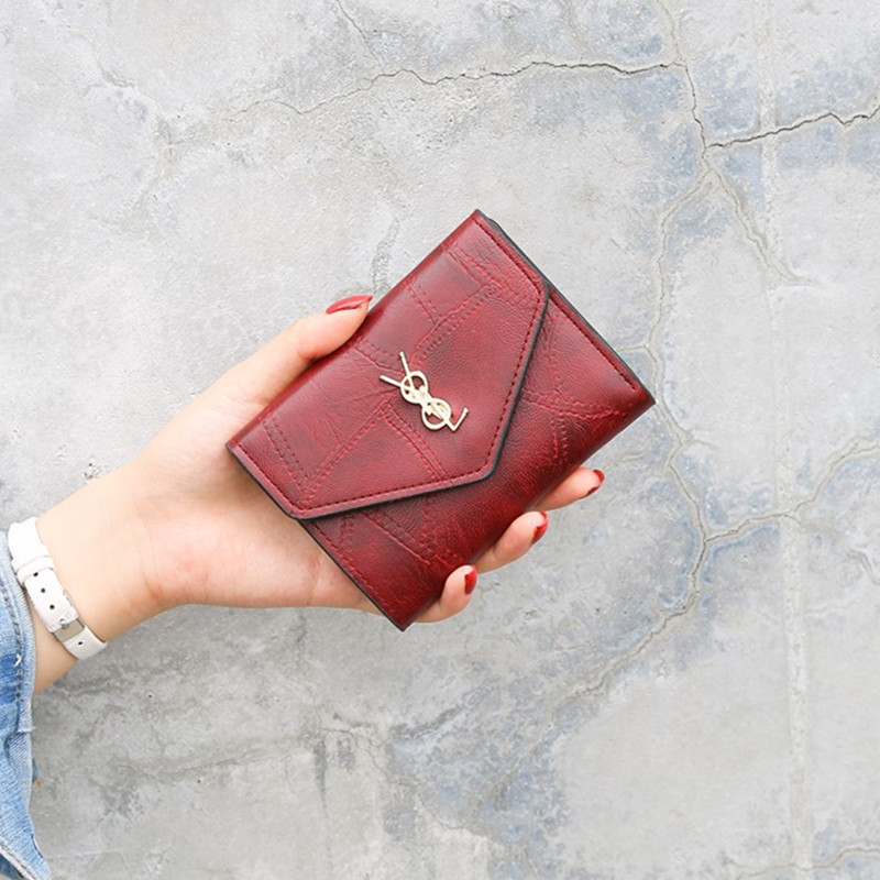 2020 Women Vintage Wallets Short Leather Wallet Student Coin Mini Purse Card Holder Ladies Clutch Bag Cat Small Female Purse