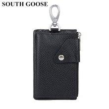 Key Wallets Organizer Key-Holder Genuine-Leather Purse Pouch Keychain-Bag Housekeeper-Keys