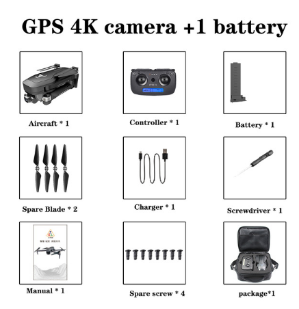2020 new SG906Pro drone brushless motor 4KHD equipment stable PTZ 5G WIFI GPS system supports TF card, remote control 1.2km