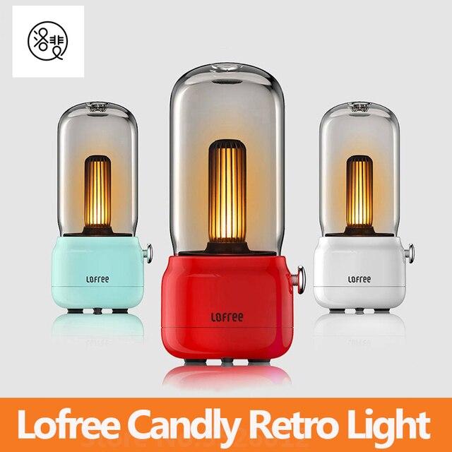 لوفري شمعة ضوء الرجعية 1800k اثنين من وسائط الضوء USB شحن/عمود شحن LED ضوء شمعة مصباح طاولة الإبداعية