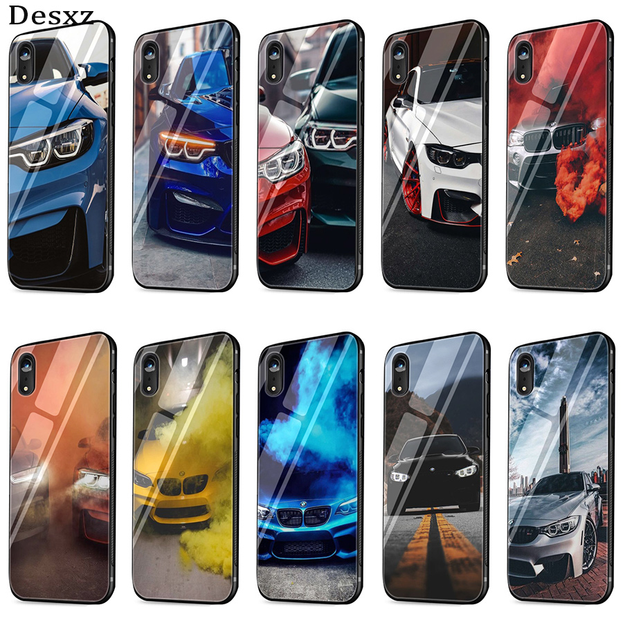 Mobile Phone Tempered Glass <font><b>Case</b></font> <font><b>for</b></font> <font><b>iPhone</b></font> 11 Pro Max 5 5s SE <font><b>iPhone</b></font> 6 6S 7 <font><b>8</b></font> Plus X XS Max XR <font><b>BMW</b></font> Cover image