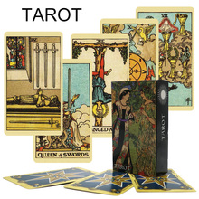 The Most popular English Version  Palying Cards For Party Gamet  Tarot Deck 78 Cards Affectional Divination Fate Game Deck