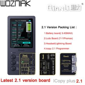 Image 1 - QianLi iCopy 2.1 LCD תצוגת מגע רטט מנוע eeProm העברת כלי עבור iPhone חלקי icluding LCD מגע רטט מנוע