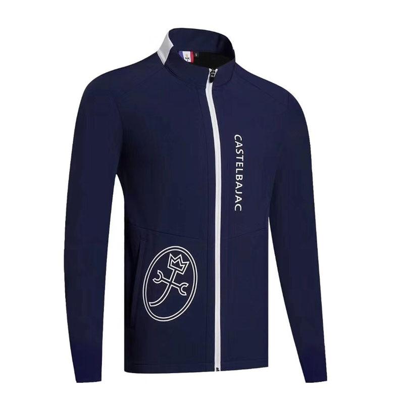 Cooyute New Golf Windbreaker Latest Spring Autumn Golf Sports Jacket Full Sleeves Clothin Anti-Pilling Full Golf Jacket Fr