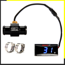Motorcycle KOSO Water Temperature Mini Meter For XMAX250 300 NMAX CB 400 CB500X Sensor Water Temp Fahrenheit Adapter Scooter