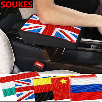 Rubber Flag Non-slip Mat Car Center Console Armrest Pad For Volvo S60 V70 XC90 XC60 Subaru Forester Peugeot 307 206 308 407 508 image