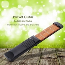 Portable Pocket Guitar 4 Fret/6 Fret  Chord Practice 4/6 Strings Trainer Tool Gadget for Beginners D35