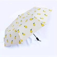 Креативный лимонный Черный Пластиковый Солнцезащитный крем Защита от солнца дождь и дождь двойного назначения