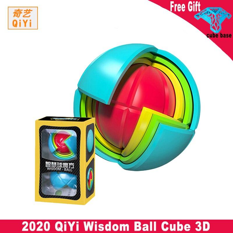 Qiyi sabedoria bola cubo 3d puzzle educacional conjunto crianças brinquedo educativo para a montagem mágica labirinto bola