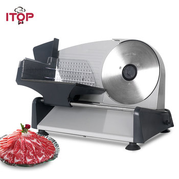 ITOP Multifunctional Food Slicer For Bread Cheese, ham Fruit Mutton beef Stainless Steel Electric Meat Slicer Household 220V 110 220v home meat slicer semiautomatic electric slicer multifunction meat cutter for commercial fruits ham bread
