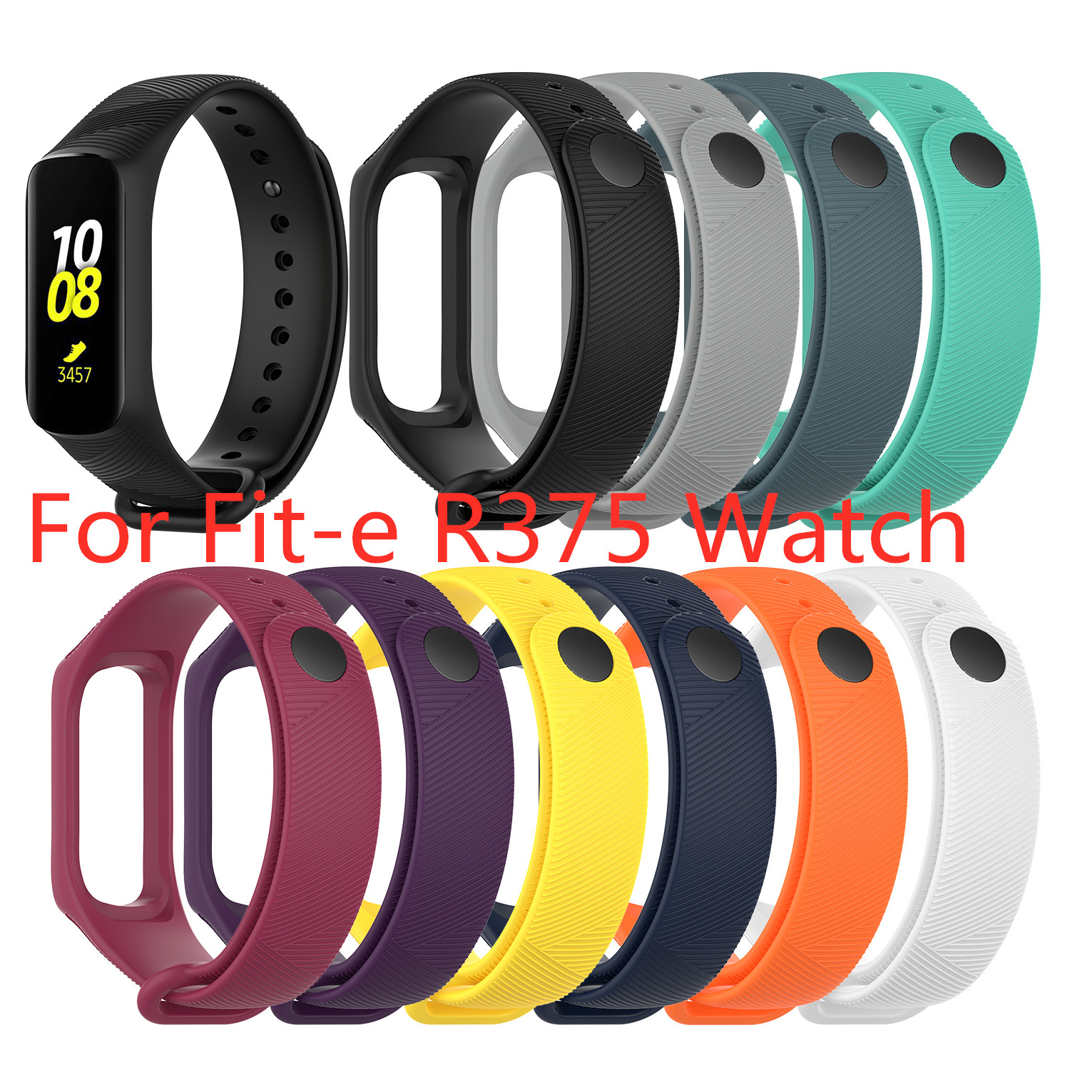 Multicolor Silicone Watch Strap Wrist Band Strap For Samsung Galaxy Fit-e R375 Smart Bracelet Replacement Band Strap Accessories