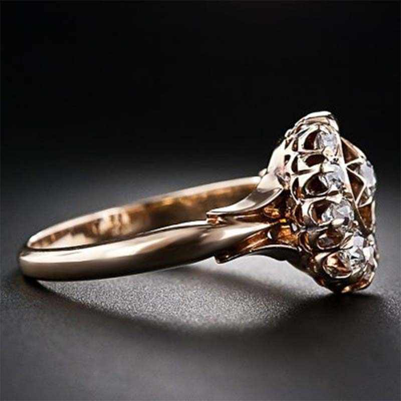 JYA Vintage หรูหราแหวนดวงจันทร์และดาว Zircon บุคลิกภาพที่เรียบง่าย Grace แหวนผู้หญิง Elegant Mature เครื่องประดับ
