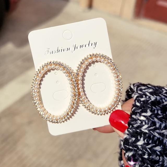 Shining Oval Shape Handmade Crystal Beads Drop Earrings For Women Big Long Earrings Gold Color Metal.jpg 640x640 - Shining  Oval Shape Handmade Crystal Beads Drop Earrings For Women Big Long Earrings Gold Color Metal Ear Piece Fashion Jewelry