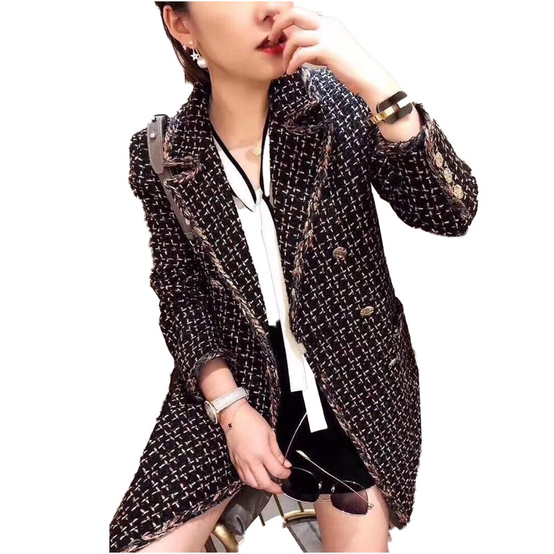Fashion Coat Winter/Autumn Clothes Women's Blazer/Suit /Jackets Long Tweed Jackets/Blazer For Women Ladies Vadim Womens Clothing