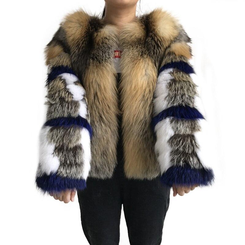 Kadın Giyim'ten Gerçek Kürk'de Kadınlar kış gerçek tilki kürk ceket High end kısa kırmızı tilki ceket moda giyim kabarık sıcak satış'da  Grup 1