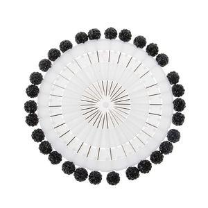 Image 2 - 30Pcs/Set Safety Pin Muslim Hijab Scarf Pin Rhinestone Ball Brooch Straight Head Pin