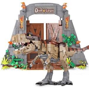 Image 2 - Создатель Юрского периода парк Rampage тираннозавр рекс набор совместим с 75936 строительные блоки кирпичи игрушка Рождественский подарок