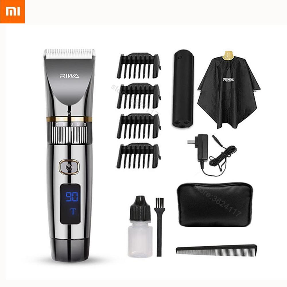 2020 New Xiaomi Mi Riwa Hair Clipper Professional LED Screen Ceramic Knife Body Washing Machine For Men Women Baby 2200mAh 6501T