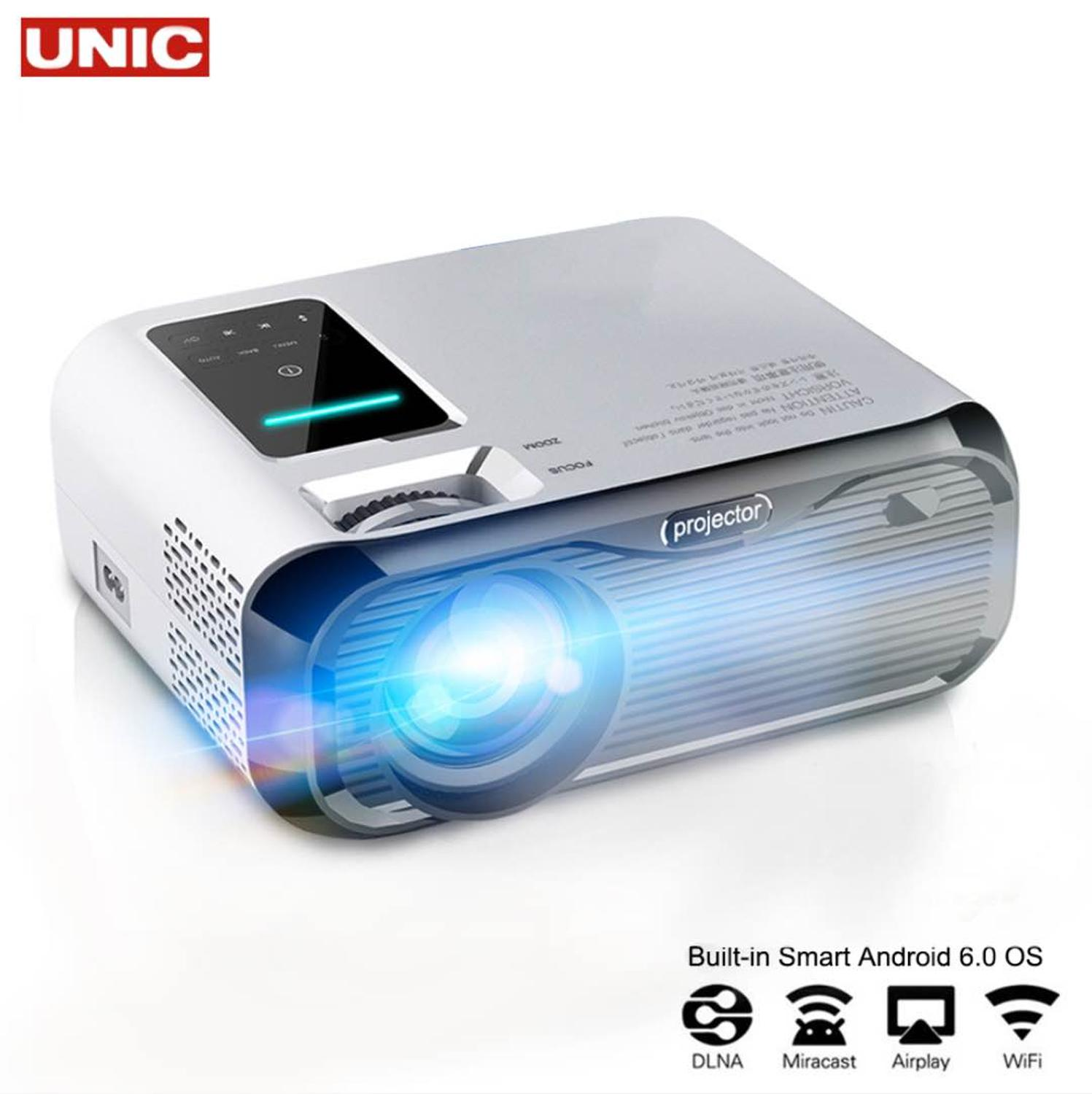 E500H mini Projector Full-HD 1080P projector WIFI connect Phone 1280x800P Resolution Beamer 6000lumens 4K Proyector Home Theater image