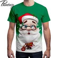 Phantasy 2020 Санта Клаус принт футболка мужская женская одежда
