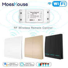 Wall-Panel-Transmitter Google Wireless Smart-Switch Remote-Control Wifi Alexa with Home.