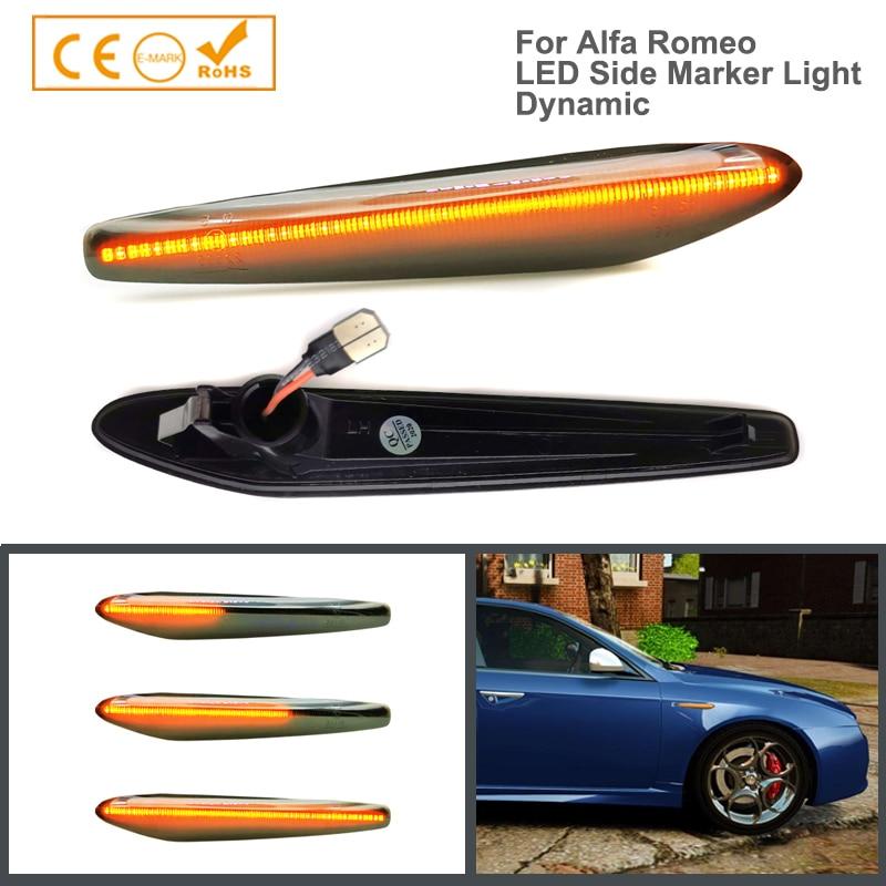 2 шт. ошибок светодиодный динамический боковых габаритных огней стрелка указателя поворота мигалки лампы для Alfa Romeo 159 Sportwagon Boera паук 939