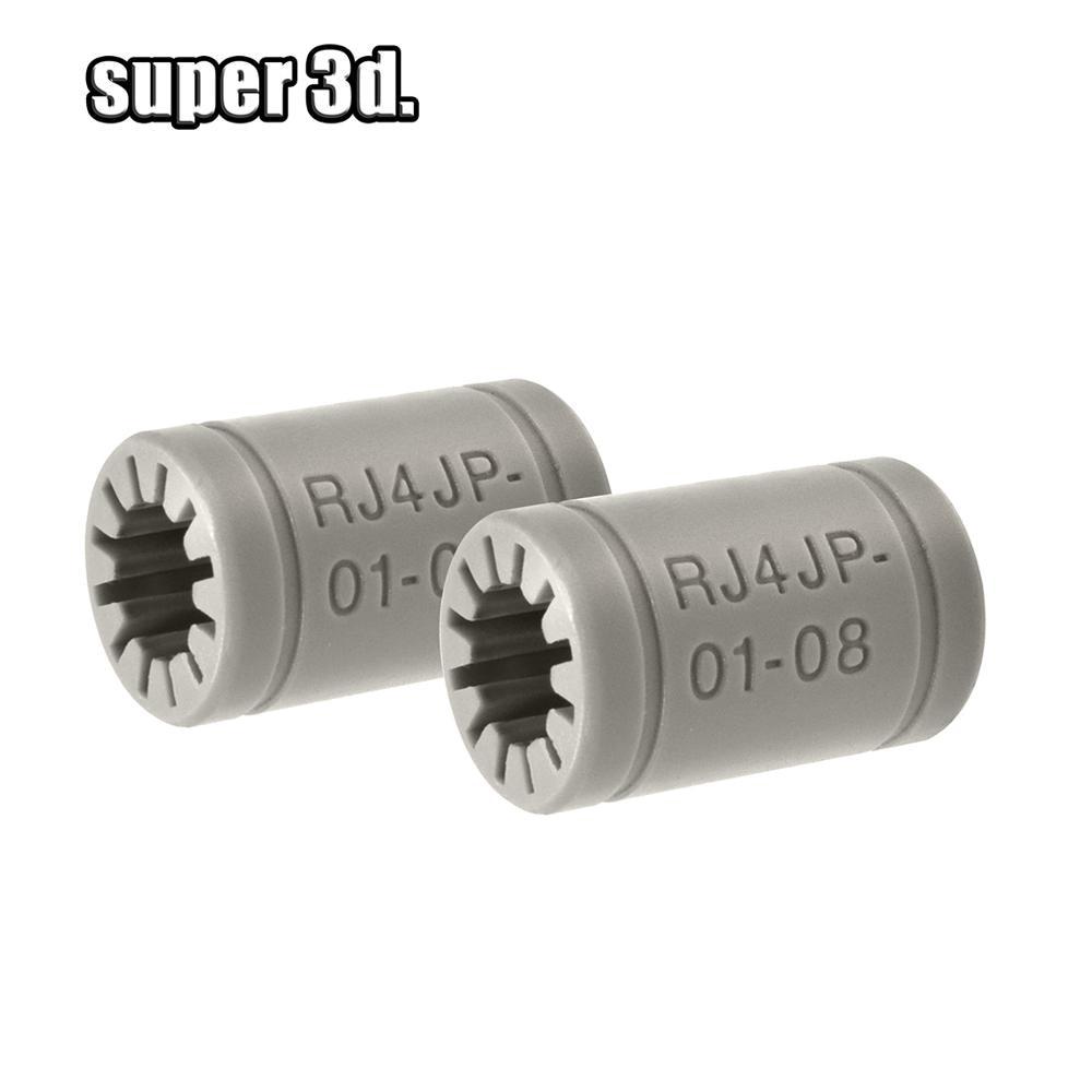 lowest price 10pcs lot LM8UU Bearings 8mm Bushing 3D Printers Parts Rail Linear Long Rod Shaft Part 8mm 15mm 24mm Igus plastic bearing