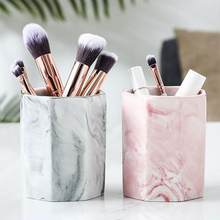 1 PC Keramik Kosmetik Make Up Brush Kotak Penyimpanan Jar Pen Holder Desktop Organizer Meja Dekorasi Mudah Dibersihkan(China)