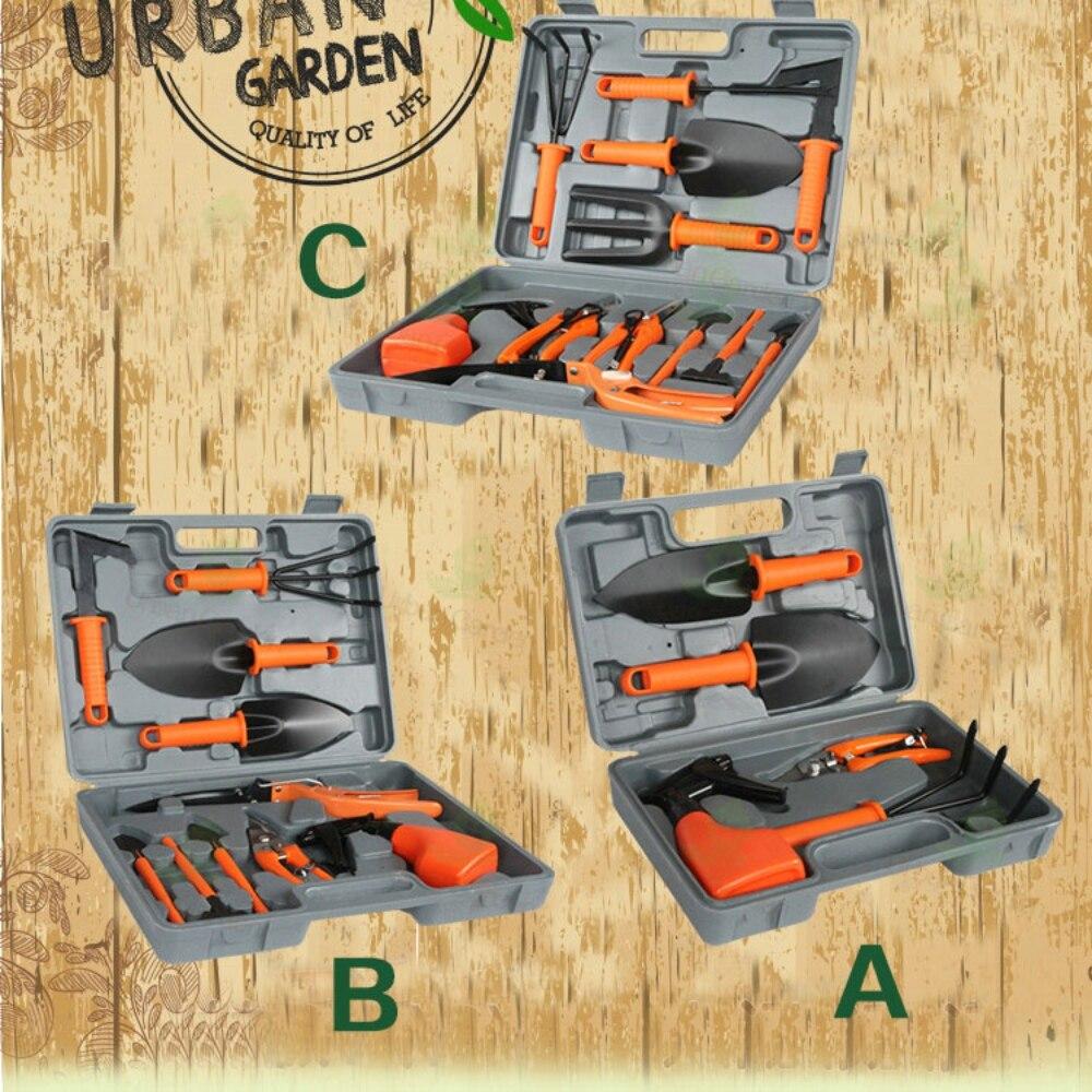 5/10/12Pcs/set Garden Tool Set Shovel Rake Clippers Household Multifunctional Kit Garden Planting Plastic Case Packing