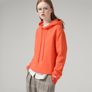 Image 3 - Toyouth 캔디 컬러 여성 후드 및 스웨터 형광 노란색 단색 긴 소매 후드 트랙 수트 여성상의