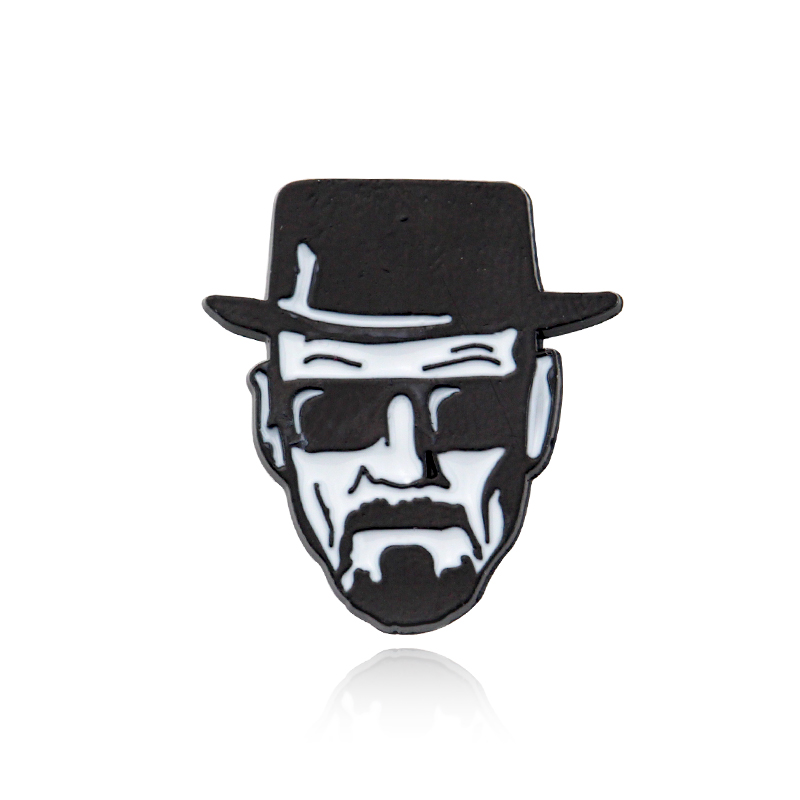 Breaking Bad Walter white Punk Zinc Alloy Brooch pins Backpack Pride Clothes Medal Shirt Hat Insignia Badges Brooches Men Women image